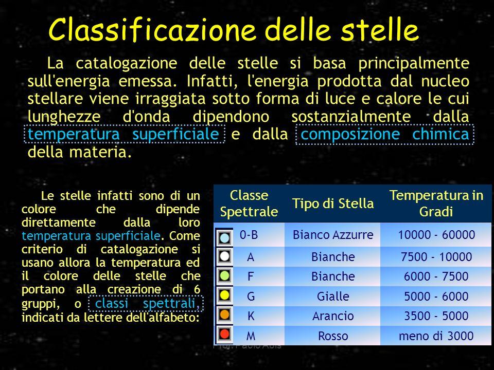 Classificazione delle stelle