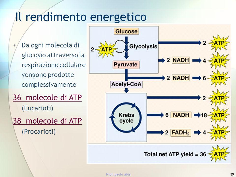 Il rendimento energetico