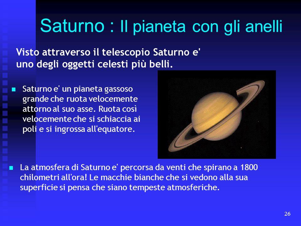 Saturno : Il pianeta con gli anelli