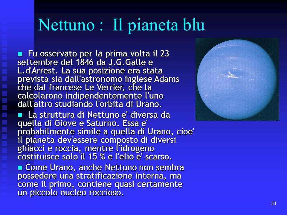 Nettuno : Il pianeta blu