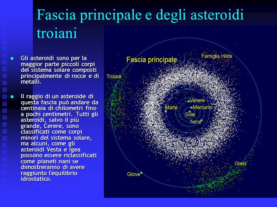 Fascia principale e degli asteroidi troiani