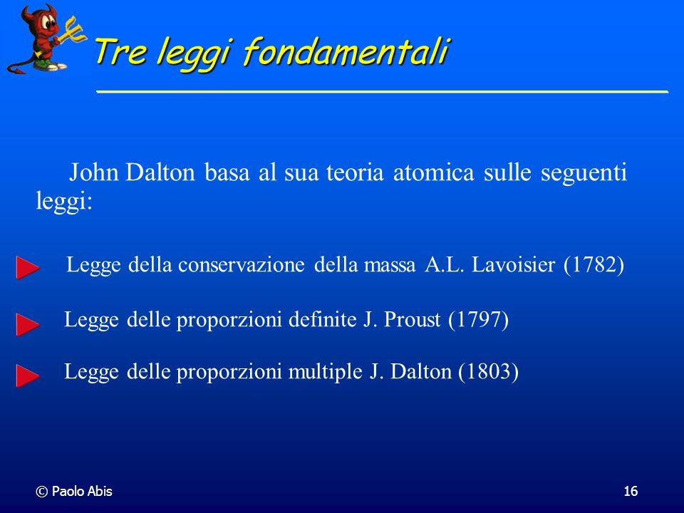Tre leggi fondamentali