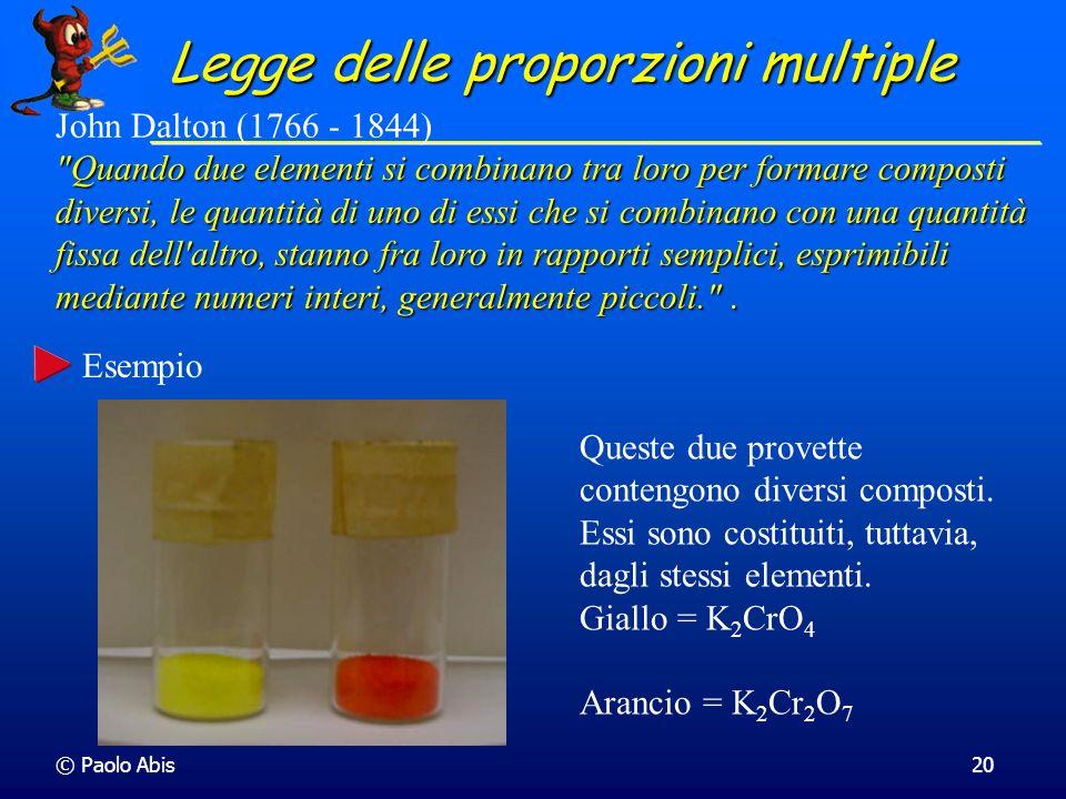 Legge delle proporzioni multiple
