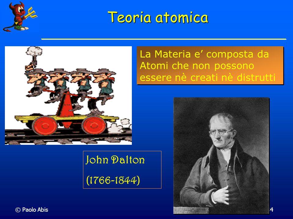 Teoria atomica John Dalton (1766-1844)
