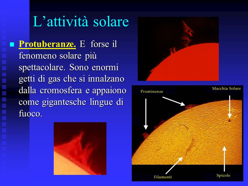 L'attività solare