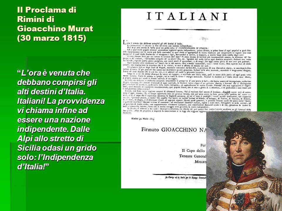 Il Proclama di Rimini di Gioacchino Murat (30 marzo 1815)