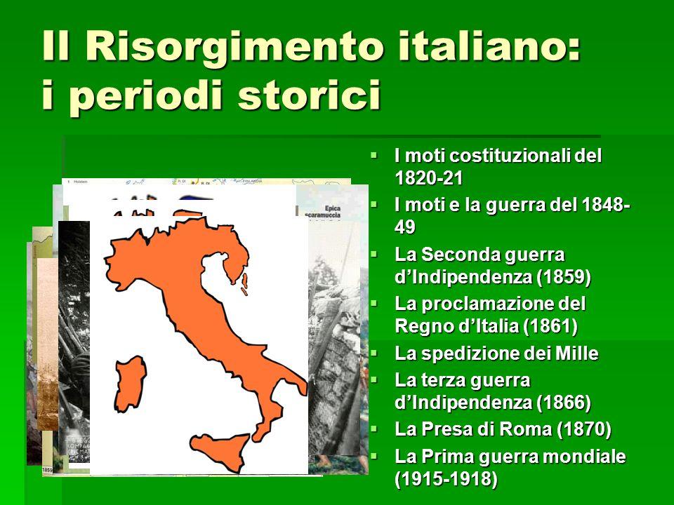 Il Risorgimento italiano: i periodi storici