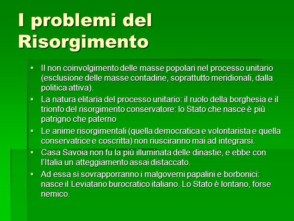 I problemi del Risorgimento