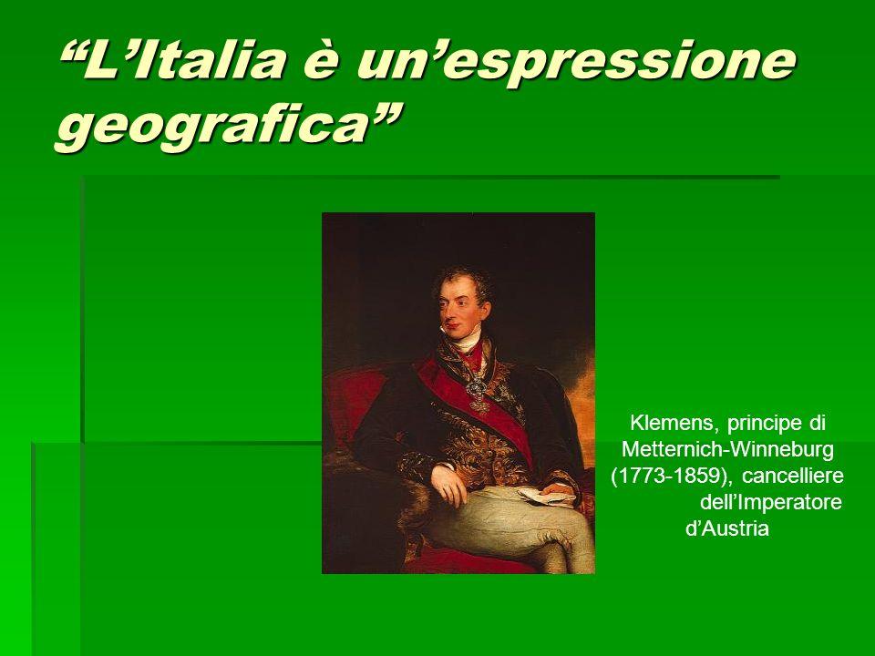 L'Italia è un'espressione geografica
