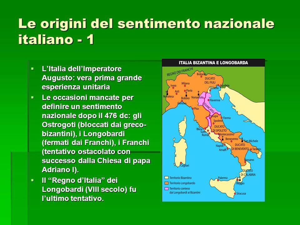 Le origini del sentimento nazionale italiano - 1