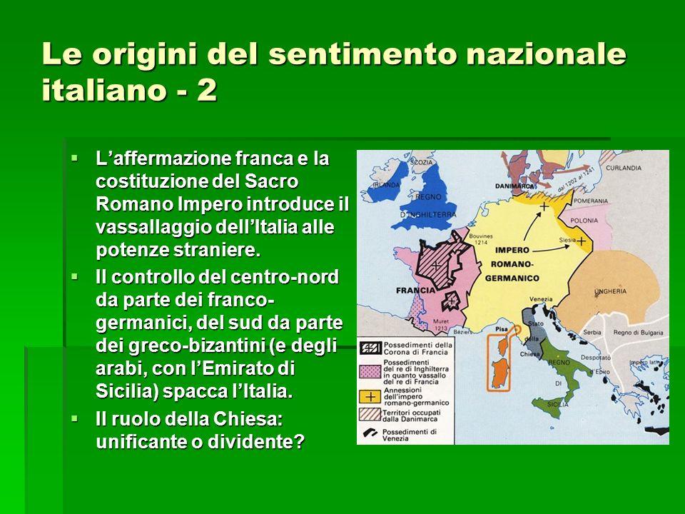 Le origini del sentimento nazionale italiano - 2