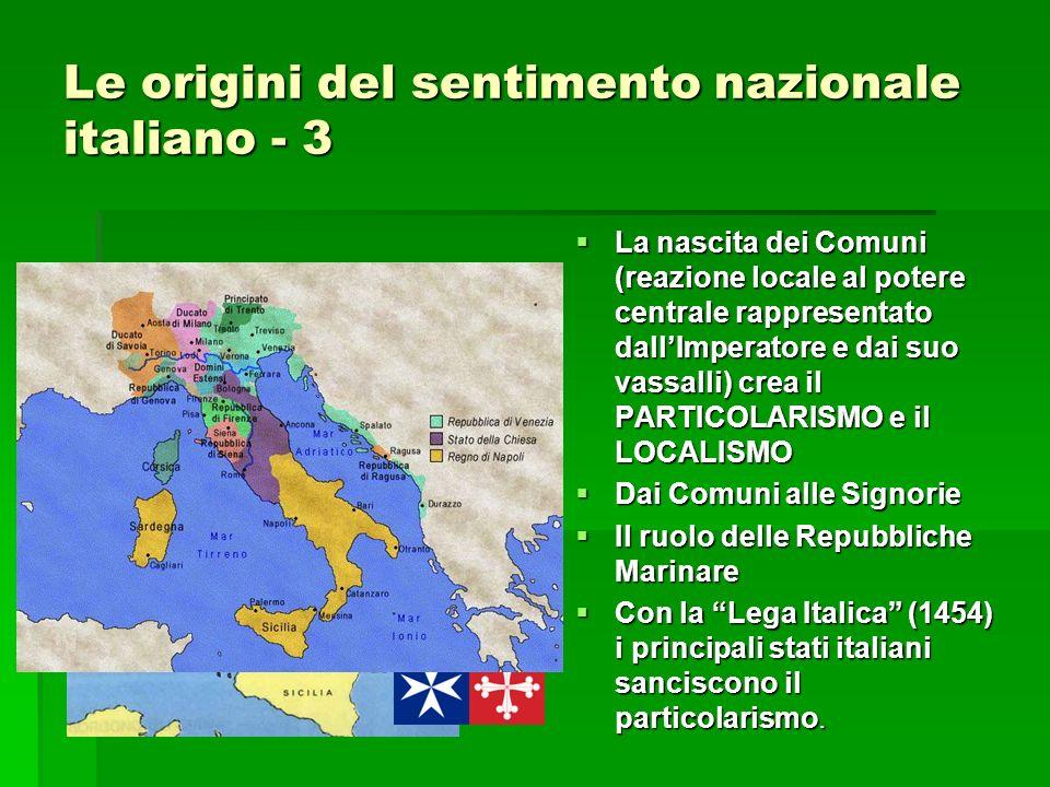 Le origini del sentimento nazionale italiano - 3