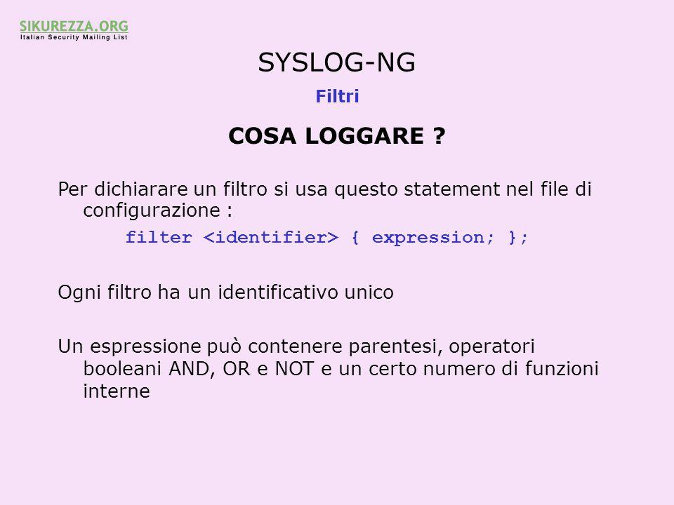 SYSLOG-NG COSA LOGGARE