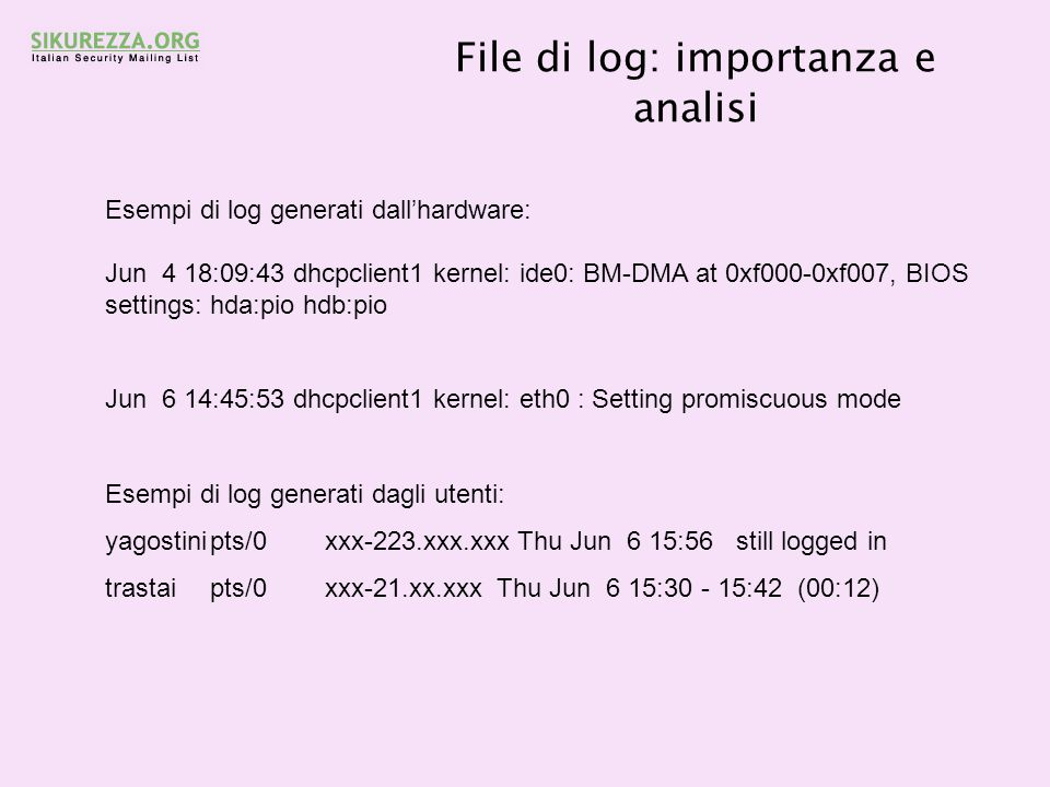 File di log: importanza e analisi