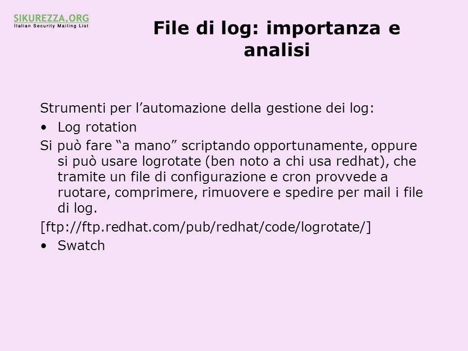 File di log: importanza e analisi