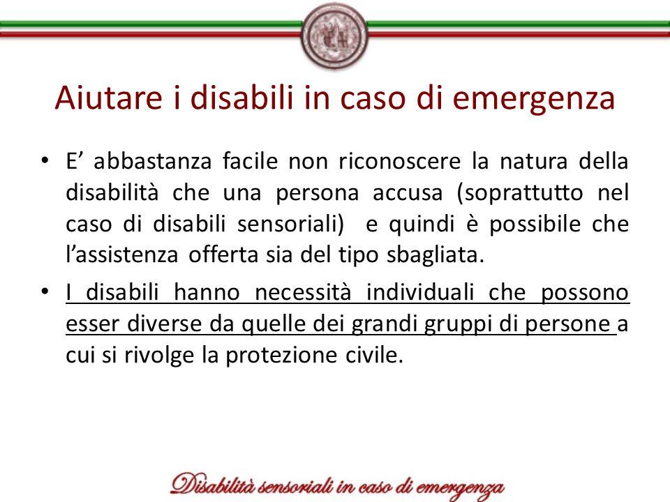 Aiutare i disabili in caso di emergenza