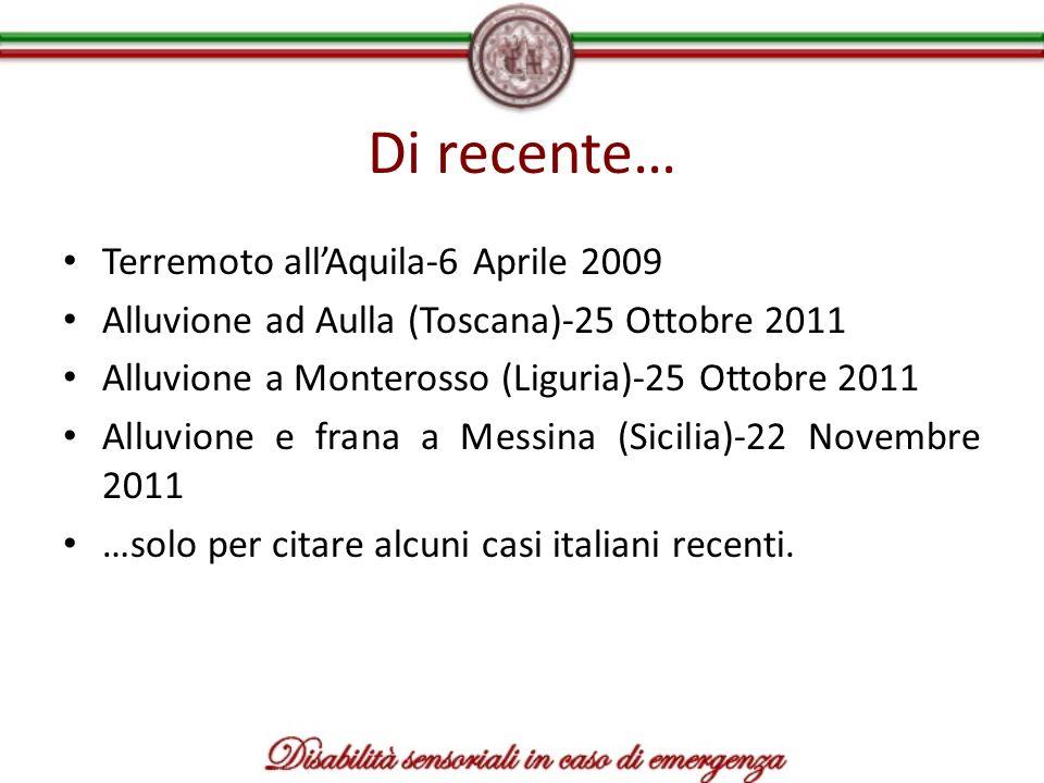 Di recente… Terremoto all'Aquila-6 Aprile 2009