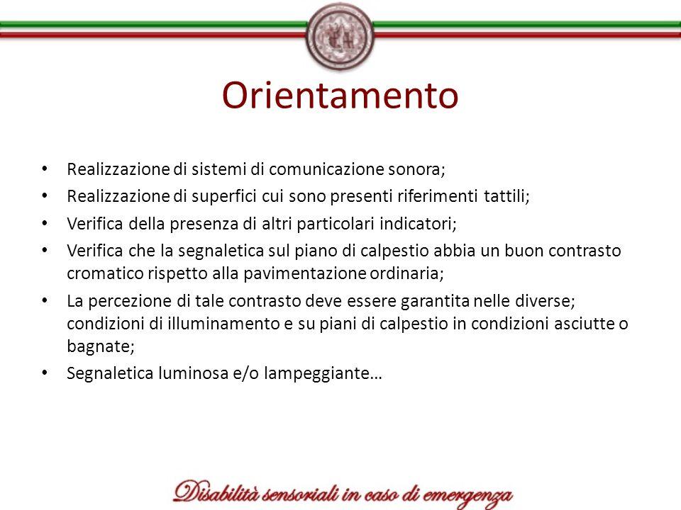 Orientamento Realizzazione di sistemi di comunicazione sonora;