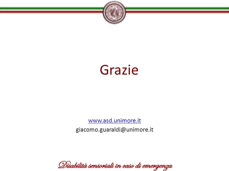Grazie www.asd.unimore.it giacomo.guaraldi@unimore.it