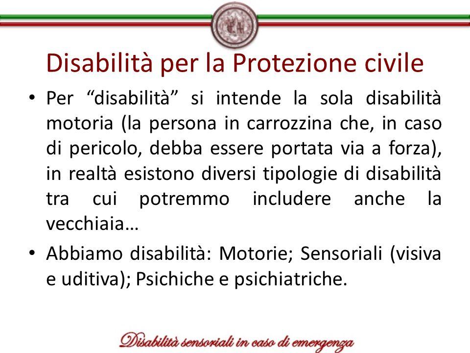 Disabilità per la Protezione civile