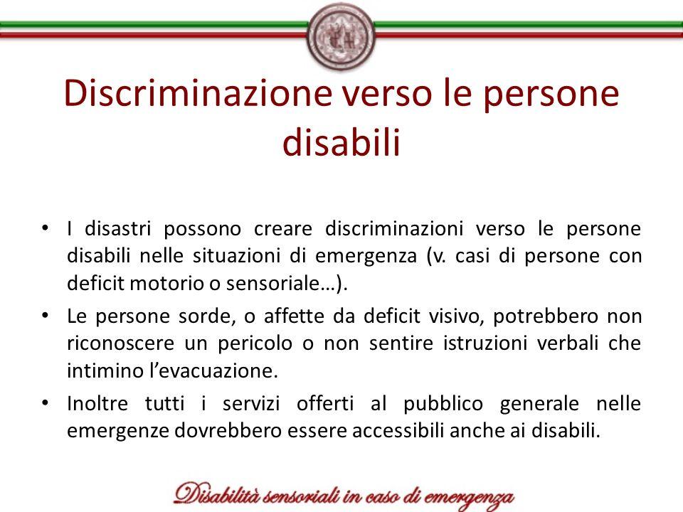 Discriminazione verso le persone disabili