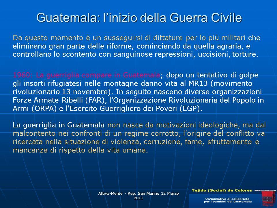 Guatemala: l'inizio della Guerra Civile