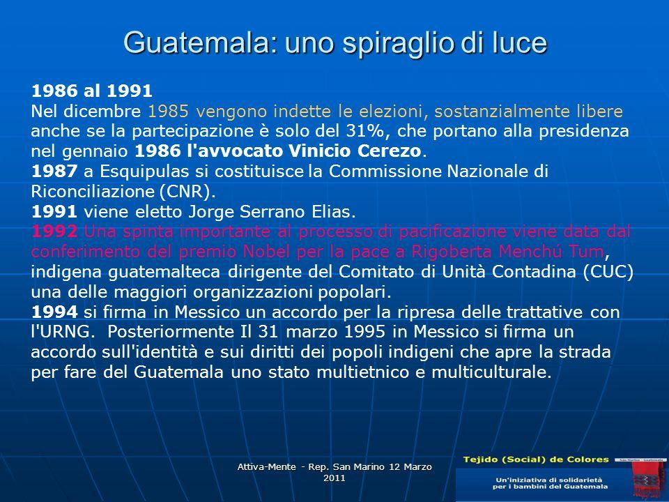 Guatemala: uno spiraglio di luce