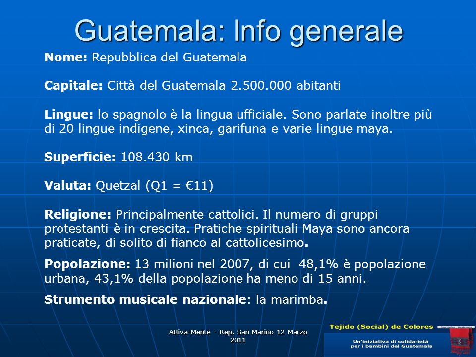Guatemala: Info generale
