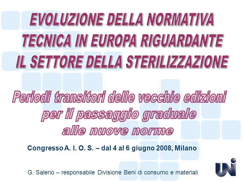 Congresso A. I. O. S. – dal 4 al 6 giugno 2008, Milano