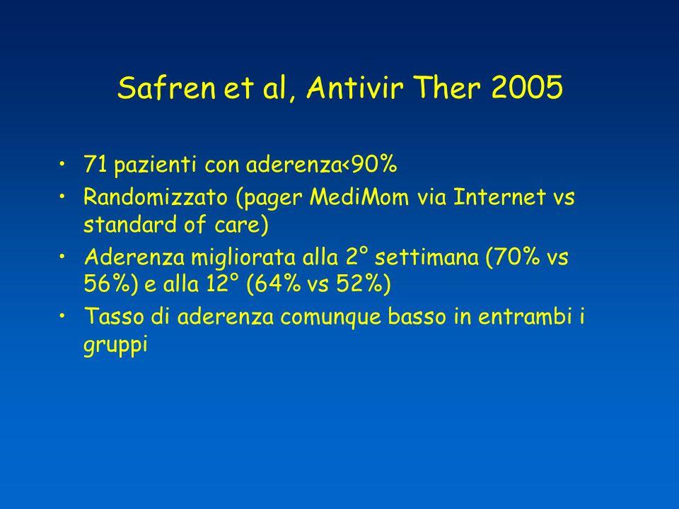 Safren et al, Antivir Ther 2005