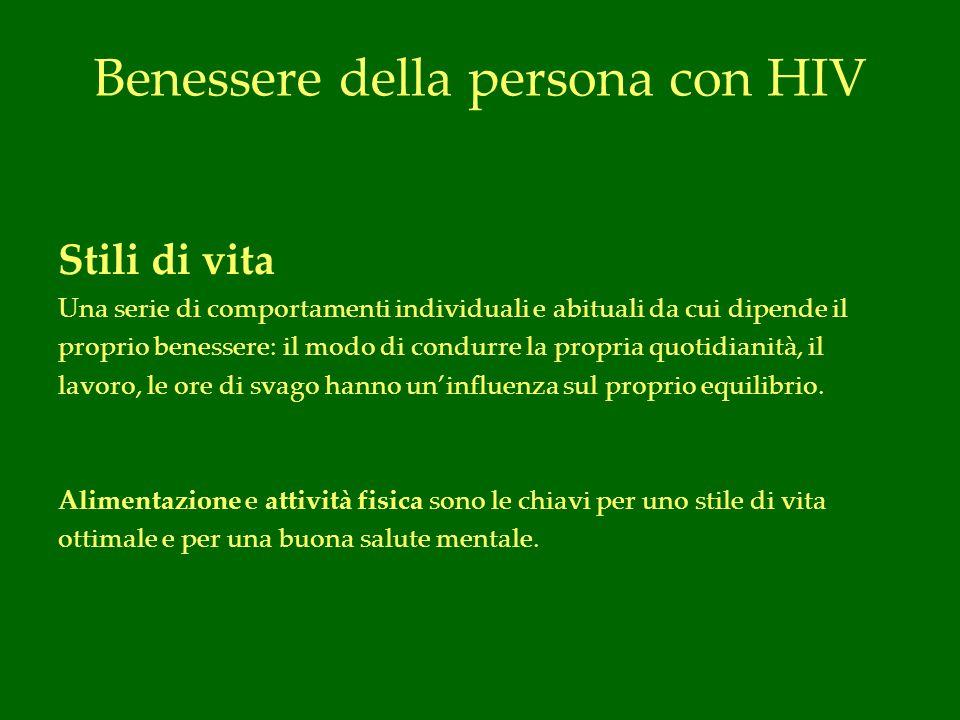 Benessere della persona con HIV