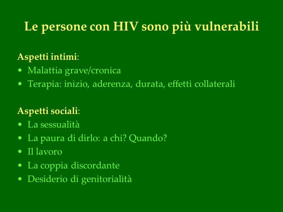 Le persone con HIV sono più vulnerabili