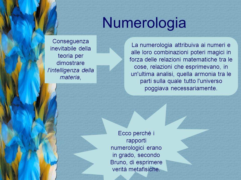 Numerologia Conseguenza inevitabile della teoria per dimostrare l intelligenza della materia,