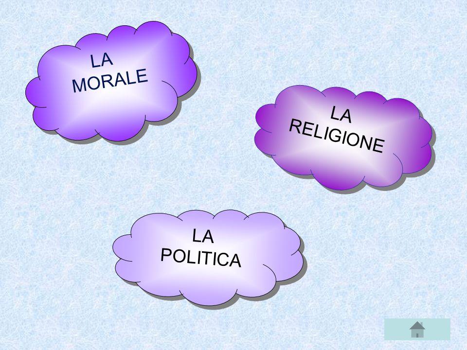 LA MORALE LA RELIGIONE LA POLITICA