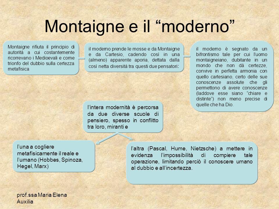Montaigne e il moderno