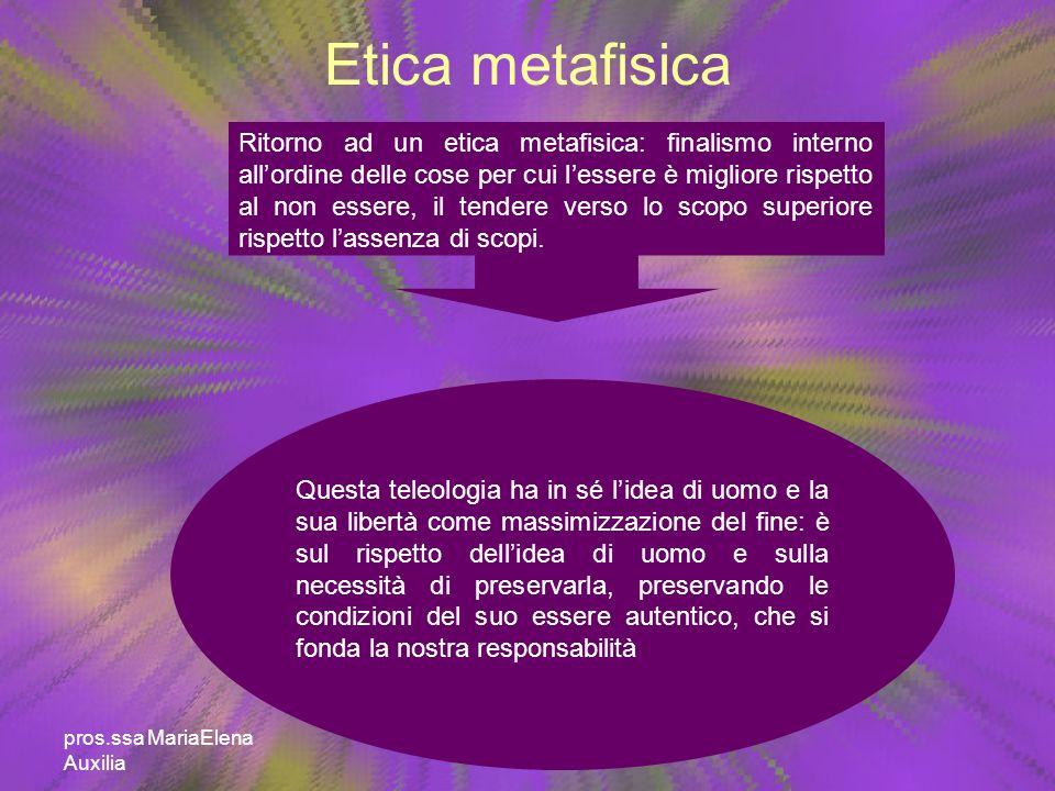 Etica metafisica