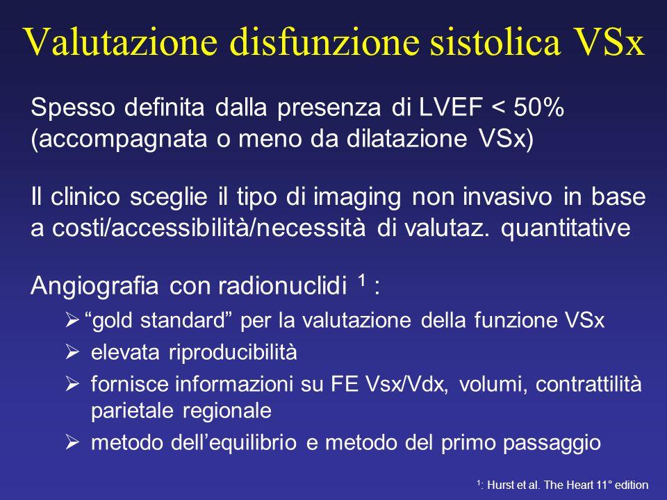 Valutazione disfunzione sistolica VSx