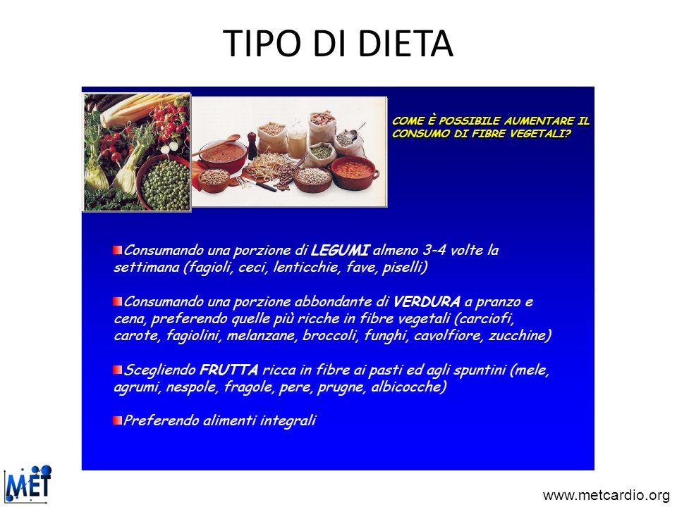 TIPO DI DIETA
