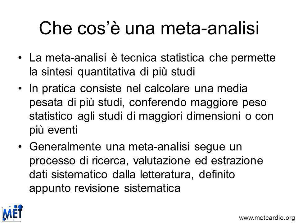 Che cos'è una meta-analisi