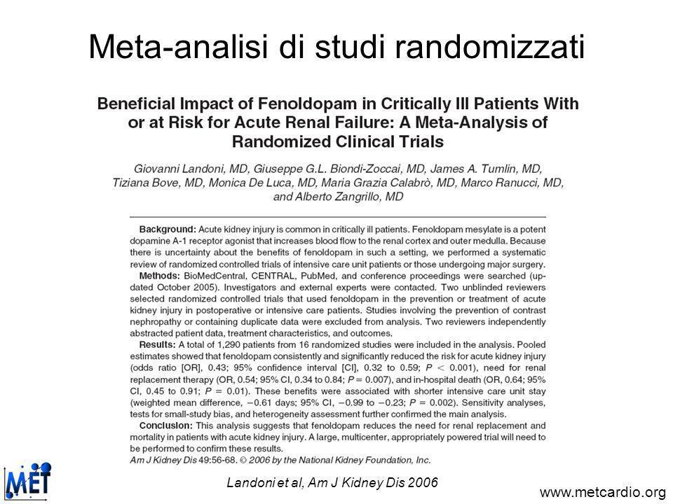 Meta-analisi di studi randomizzati