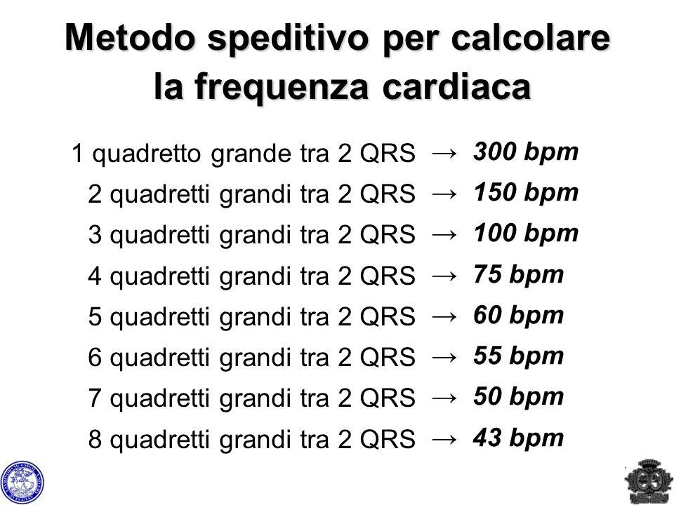 Metodo speditivo per calcolare la frequenza cardiaca