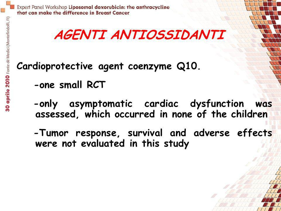 AGENTI ANTIOSSIDANTI Cardioprotective agent coenzyme Q10.