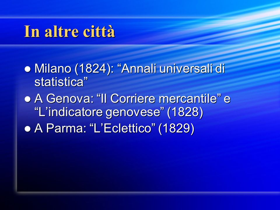 In altre città Milano (1824): Annali universali di statistica