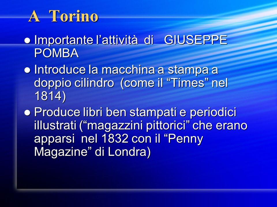 A Torino Importante l'attività di GIUSEPPE POMBA
