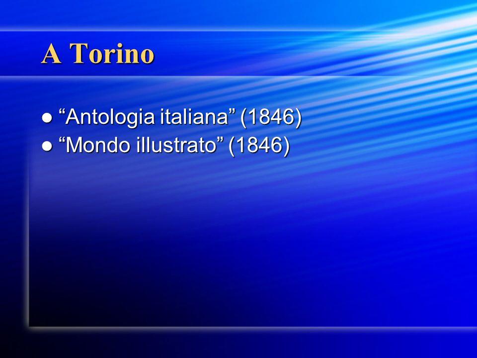 A Torino Antologia italiana (1846) Mondo illustrato (1846)