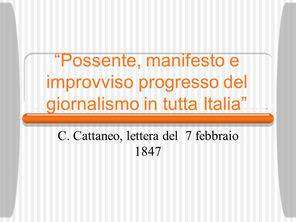 C. Cattaneo, lettera del 7 febbraio 1847