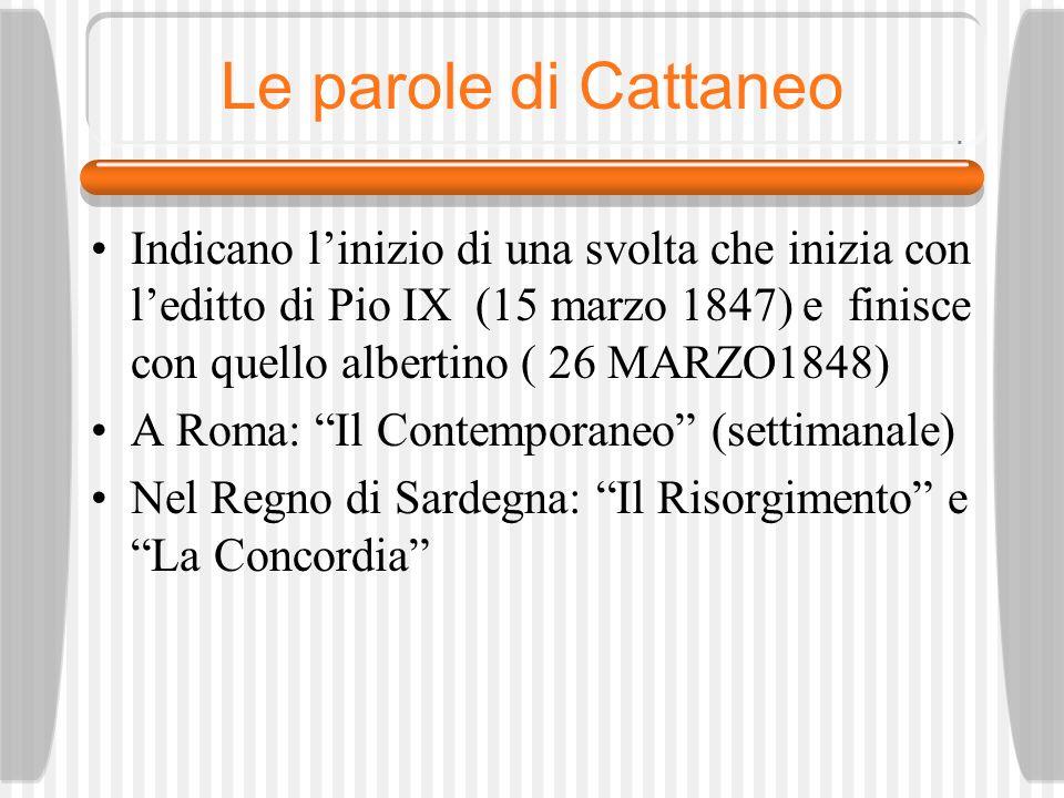 Le parole di Cattaneo