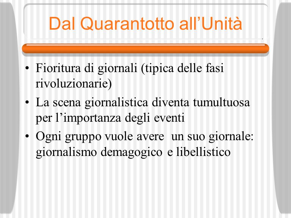 Dal Quarantotto all'Unità