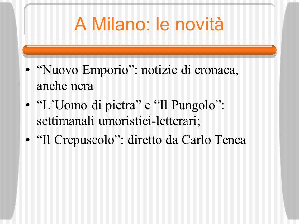 A Milano: le novità Nuovo Emporio : notizie di cronaca, anche nera