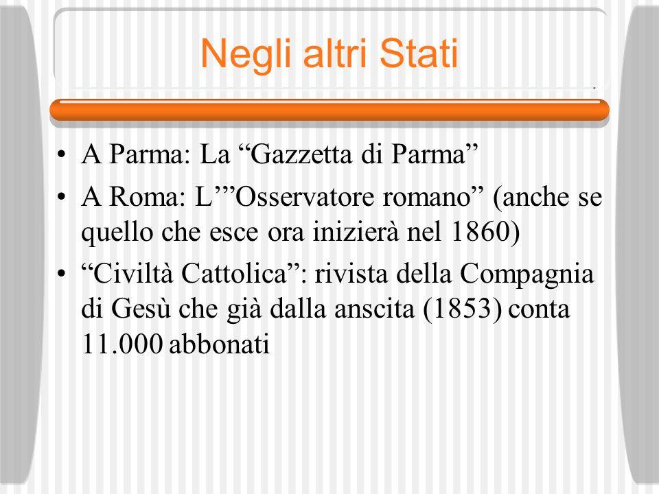 Negli altri Stati A Parma: La Gazzetta di Parma